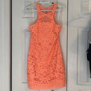 Lily Pulitzer Salmon Crochet Dress, Size M